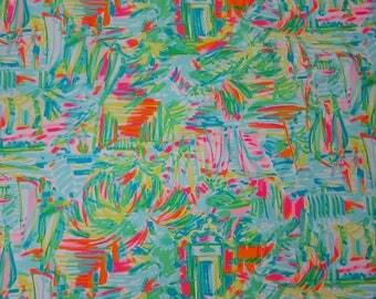 "18""x18"" ~ 2017 SEA SALT and SUN ~ Lilly Pulitzer Cotton Poplin Fabric"