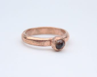 Firefly-inspired ring with copper band