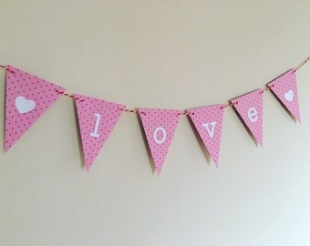 "4"" Love Bunting / Banner"