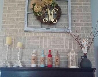 on sale 6 pane window wood window frame wreath hanger window old wood window pane wood window for wedding window for mantel mant