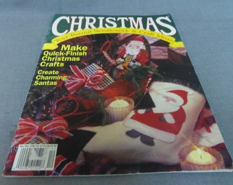 Christmas Crafts, Cross Stitch, Quilting, Crochet, Nov. Dec. 1992, Tree Topper, Snowflake Quilt, Crochet Angels and Snowflakes