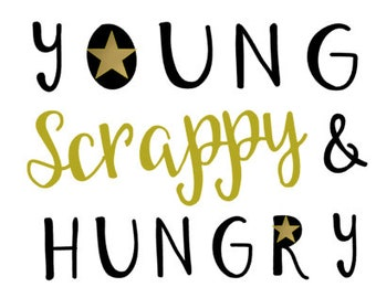 Young Scrappy and Hungry - Hamilton Bodysuit - Infant - Black - Gold - Broadway - Musical