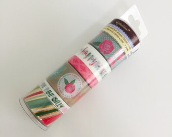 Bright Rose Washi Tape Tube By Recollections