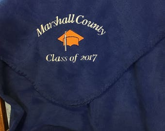 Embroidered Graduation Blanket