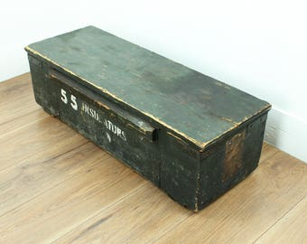 Vintage tool box - vintage wooden box - vintage wooden storage box - 1940s wooden box - vintage storage // gift for him