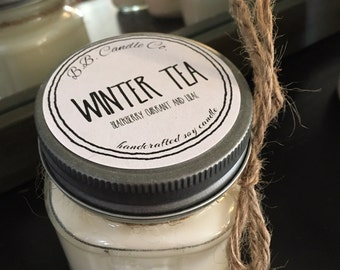 8oz Winter Tea Soy Candle