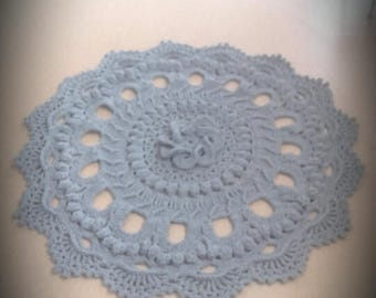 french shabby chic crocheted rug