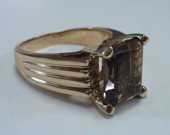 14K Yellow Gold 5+ ct. Topaz Ring size 6.25