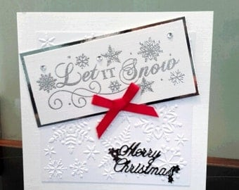 Handmade Let it Snow Christmas Card