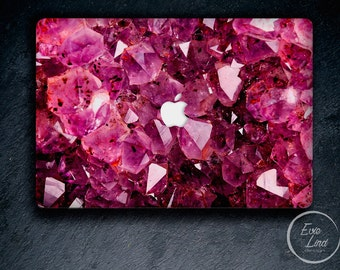 Pink crystal Macbook pro air retina skin cover decal sticker stone gem laptop rear lid vinyl cover EL039