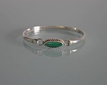 Vintage Taxco Silver Bracelet, Sterling Silver Bangle Bracelet