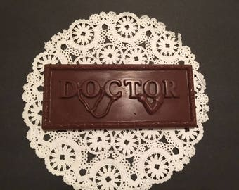 Doctor Candy Bar (ALMOST A POUND-Large 8 x 3 1/2 Bar) 10qty-Doctor Thank You/Doctor/Physician/Doctor Recognition Day/Candy Bar/Chocolate Bar