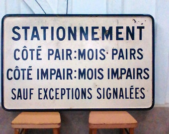 French Enamel signs vintage road.