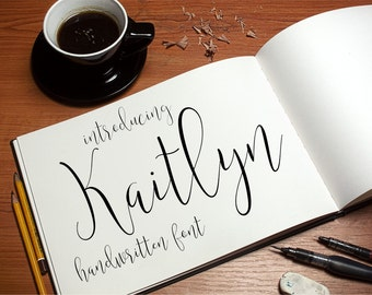 Font Download - Digital Fonts - Downloadable Handwritten font – Script font – Open True Type Font Download Instant Download Calligraphy Font