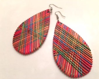African style earrings/Thread earrings/Colorful Earrings
