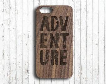 Adventure iphone 6s plus  case  Wood iphone 7 case  Personalized iphone 7 plus case  Custom initials  wooden iphone 6 plus case  iphone skin
