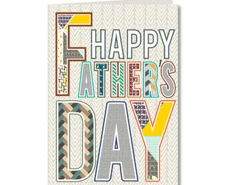 Geo - Fathers Day Card - Handmade Greeting Card - GE30