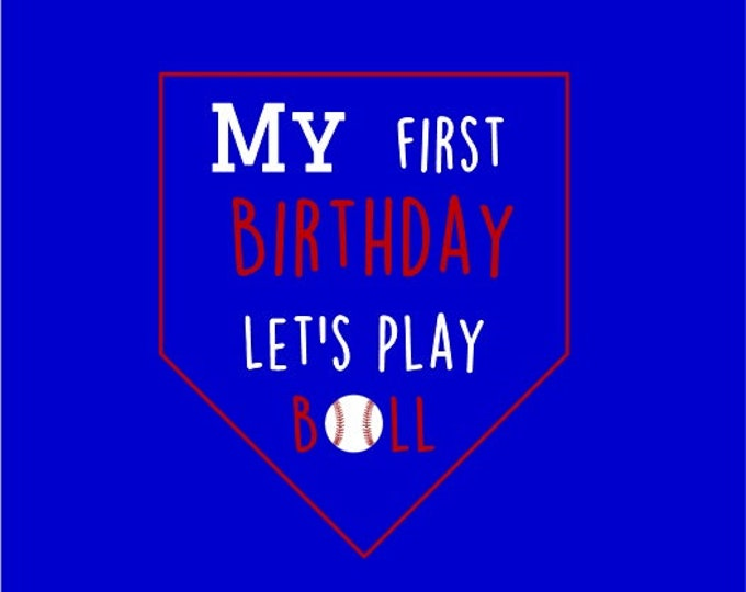 Custom Baseball First Birthday Shirt