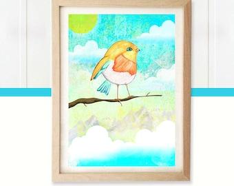 The bird illustration
