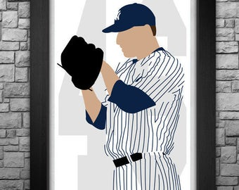 ANDY PETTITTE minimalism style limited edition art print. Choose from 3 sizes!