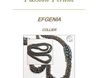 Pattern necklace EFGENIA
