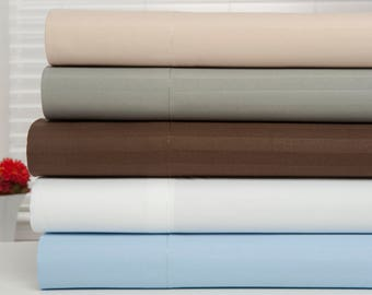 Bamboo 1800 Egyptian Comfort Ultra Soft Striped Luxury Sheet Set - 6 Colors