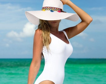 Floppy Sun Hat with Tribal Band