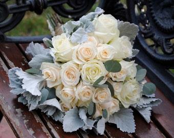 Blush Dusty Miller Wedding Flower Package