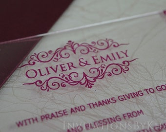 Acrylic Invitations Acrylic Wedding Invitations Laser Cut Wedding Invitations With Mailing Envelope