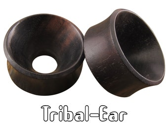 piercing plugs sound ebony wood tunnels Tribal-Ear Body Ethnic