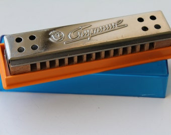 NOS Soviet harmonica, Soviet mouth organ, vintage unused harmonica USSR, harmonica Sputnik