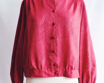 Fuchsia collar blouse