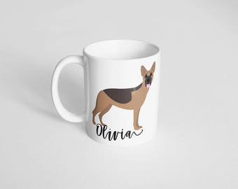 German Shepherd Mug, Pet lover gift, Pet Coffee Mug, Custom pet Mug, Pet Lover Mug, German Shepard dog mug, Gift, Dog Mug, 11oz Mug