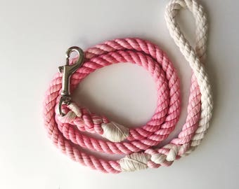 Petal Pink Ombré Rope Leash