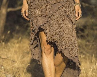 SALE Tiered Crochet Wrap Skirt