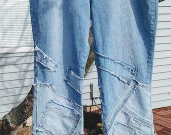 25% Off/Plus Size Womens Jeans/Diane Gilman  Blue Jeans/Patchwork  Size 20 Jeans/Womens Size Jeans Under 50.00/Diane Gilman Jeans/Nr.274