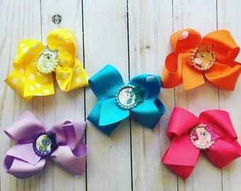 My Little Pony bow set, MLP bows, my little pony bow