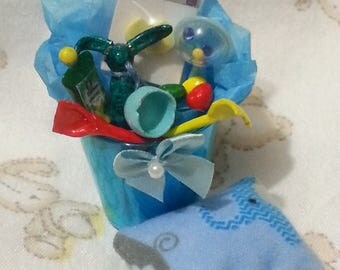 Mini silicone ooak baby doll Easter Basket