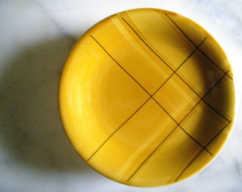 Vintage of Salins earthenware dessert plates