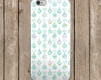 Christmas Ornaments White Background Pattern Design iPhone Case   iPhone 5/5s/SE   iPhone 6/6s   iPhone 6 Plus/6s Plus