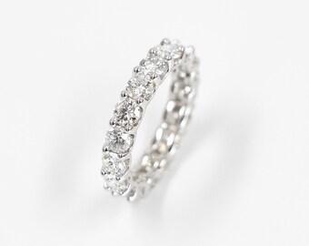 Diamond Wedding Band, Wedding Ring, Engagement Band, Engagement Ring, 2.55 CTW Brilliant Cut Eternity Diamond Ring
