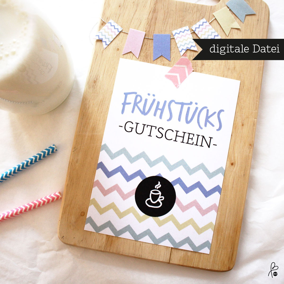 gutschein fr hst ck muttertag postkarte printable. Black Bedroom Furniture Sets. Home Design Ideas