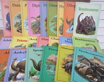 Dinosaur set of 23 books, 1980s dinosaur books, Rourke Publishing Company