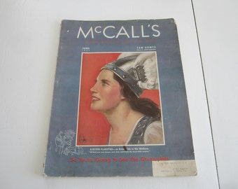 McCalls Magazine, 1937 McCalls, 1930s magazine, Dionne Quintuplets, Pre WWII Culture