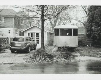 Black and White Photography Arlington Virginia Suburban Street Scene