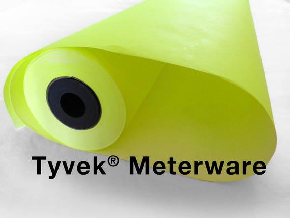 tyvek one sided neon yellow metre 111 cm width 1 m