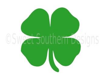Four leaf clover St Patricks Day SVG instant download design for cricut or silhouette