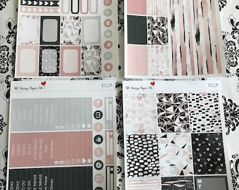 Rose gold marble - standard weekly kit eclp/happyplanner