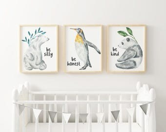 Watercolor Animals - Set of 3