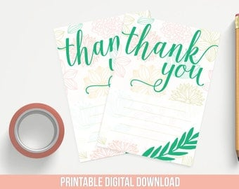 Printable Thank You Notes - Compliment Cards - Thank You Note Cards - Business Thank You - Printable Thank You - Packaging Supplies